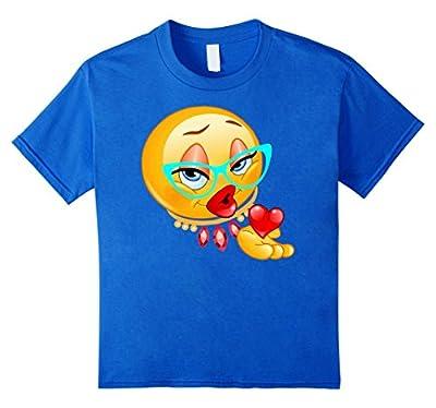Lady Bling Face Emoji Costume Smiley Funny Emoticon Shirt