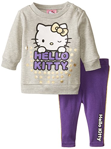 Hello Kitty Baby Girls' 2pc Fleece Set, Electric Purple, 3 Months ()