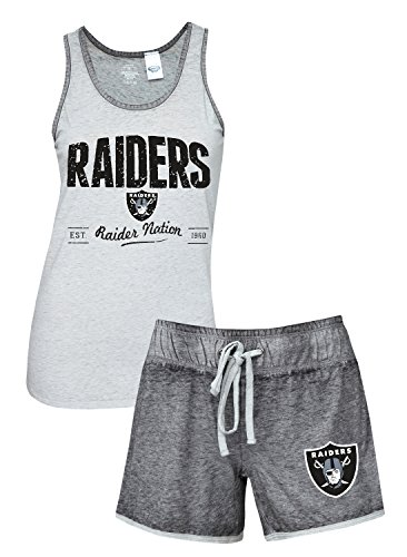 Oakland Raiders Tank - Concepts Sport Oakland Raiders Women's NFL Good Deed Dual Blend Tank & Short Sleep Set
