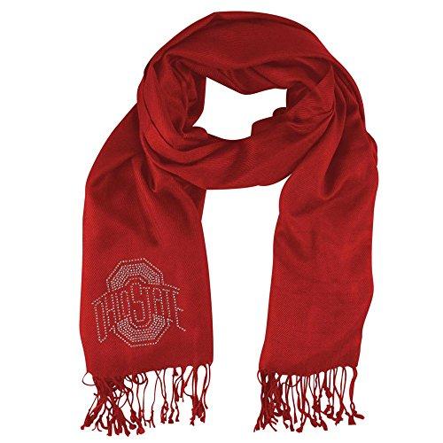 Little Earth Ohio State Buckeyes NCAA Pashi Fan Scarf (Light Red)