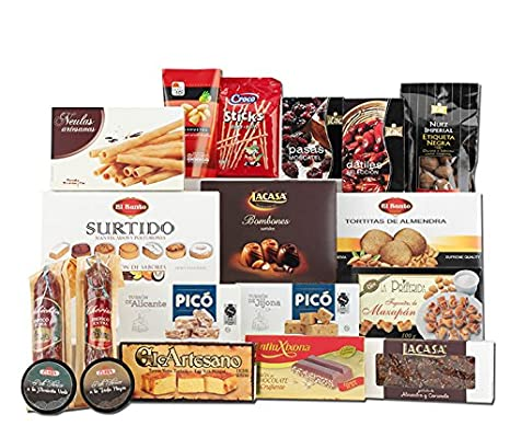 8f7841cb8be9 Selection of 19 Spanish deli hampers: varied food and traditional sweets:  Amazon.co.uk: Grocery