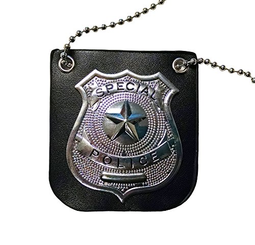 Special Police Metal P.I. Costume Badge w/ Chain