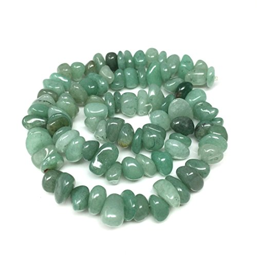 - Top Quality Natural Green Aventurine Gemstones Smooth Pebble Beads Center Drilled Free-form Loose Beads ~10x8mm beads (~16