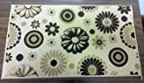 The Pecan Man FLOWERS & CIRCLES TEXTILE KITCHEN RUG (non skid back) ,1Pcs 18x30""