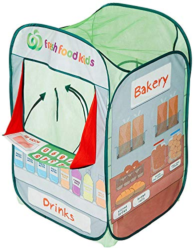Alvantor Kids Tent Drinks & Bakery Puppet Theater Kitchen Play-House Grocery Market Pop Great Game and Toy, Multicolor, 26
