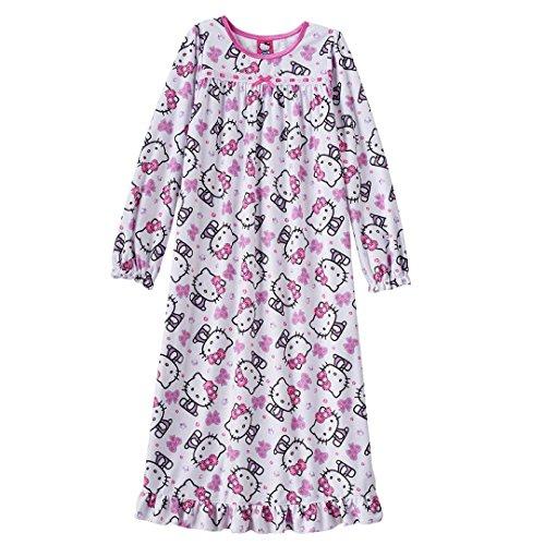 Hello Kitty Bow Nightgown Size 4 White