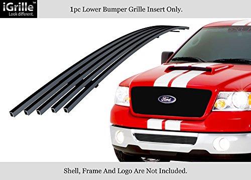 Billet Grille Bumper F150 - APS Fits 2006-2008 Ford F-150 Stainless Steel Black Bumper Billet Grille Grill Insert #F65352J
