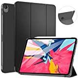 """Ztotop Case for iPad Pro 11"""" 2018 - Slim Lightweight Trifold Stand Smart Shell with Auto Wake/Sleep + Rugged Translucent Back Cover Support iPad Pencil Charging for iPad Pro 11, Black: more info"""