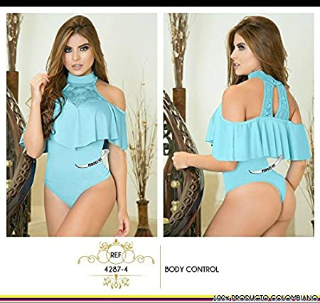 Amazon.com : Moda Colombiana Womens Body Shaper Blouse Blusa Fajas Colombianas Ab Control Ref 4287 ONE SIZE (Aqua Blue, One Size) : Sports & Outdoors
