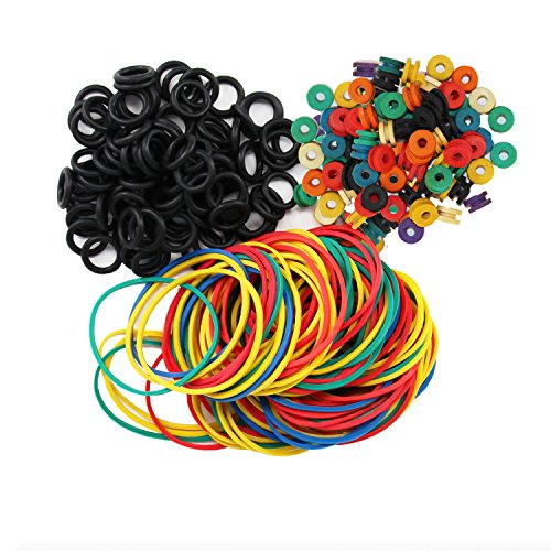 ITATOO Tattoo Grommets, O Ring's and Rubber Bands 300 Pcs ()