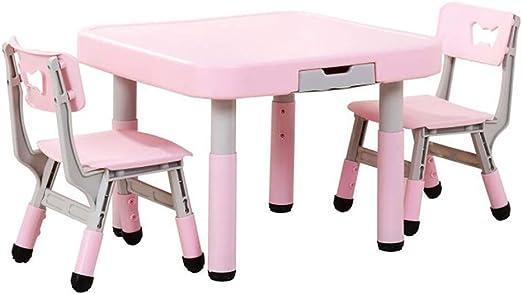 Children Desk Mesa Y Sillas Cuadradas Pequeñas para Niños Niños ...