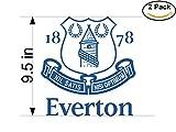 Everton FC 2 United Kingdom Soccer Football Club FC 2 Stickers Car Bumper Window Sticker Decal Huge 9.5 inches