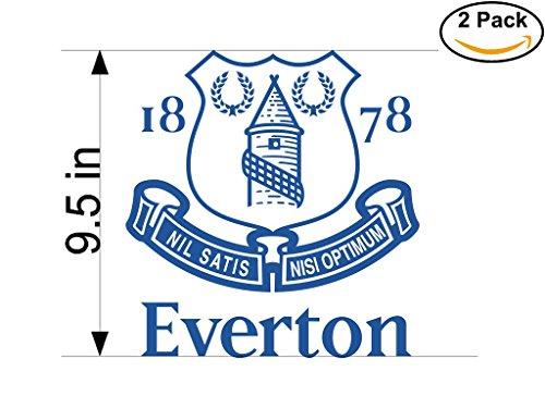 Everton FC 2 United Kingdom Soccer Football Club FC 2 Stickers Car Bumper Window Sticker Decal Huge 9.5 inches by CanvasByLam