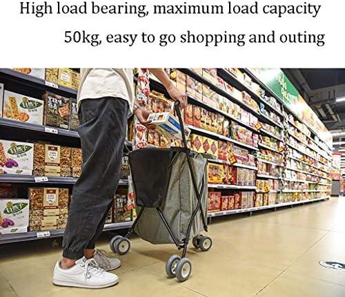 折りたたみビーチワゴン 収穫台車・キャリー 携帯用スーパーマーケットの買物車、 家庭 アウトドア 多機能 ユニバーサルホイール 折りたたみトロリー、 84Lキャンピングカーストレージ L18.5 * W18.5 * H36.2in