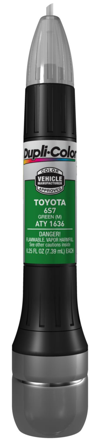 Dupli-Color ATY1636 Metallic Green Toyota Exact-Match Scratch Fix All-in-1 Touch-Up Paint - 0.5 oz.