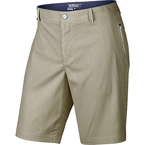 Nike Golf Modern Fit Seersucker Shorts (Khaki/White) CLOSEOUT 725698-235 Size 30