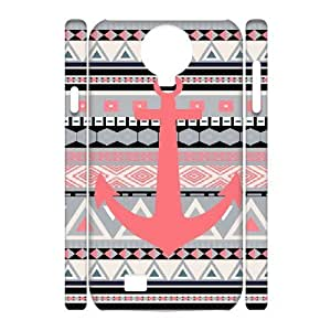 3D Jumphigh Coral Tribal Anchor Samsung Galaxy S4 Cases, Protective Cute Case For Samsung Galaxy S4 {White}