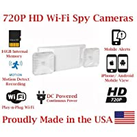 SecureGuard 720p HD WiFi Wireless IP Emergency Power Failure Light Hidden Security Nanny Cam Spy Camera with 16GB Internal Memory