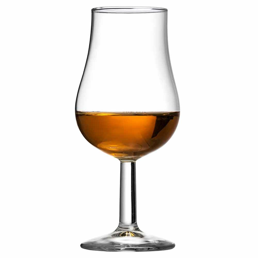 Spey Whisky Taster Glass 14cl - Box of 6 - Stemmed Tulip Shape Glass for Tasting and Nosing Whisky