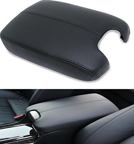 Amazingli PU Leather Center Console Lid Armrest Cover for Honda Accord 2008-2012 Black