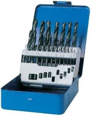 TIVOLY 90200170002 - Estuche E 19 brocas metal HSS laminadas Ø 1>10 mm 1/2 mm: Amazon.es: Bricolaje y herramientas