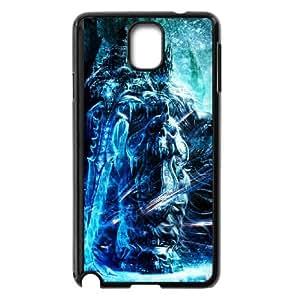 The Lich King 005 funda Samsung Galaxy Note 3 Negro de la cubierta del teléfono celular de la cubierta del caso funda EVAXLKNBC14423