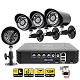 Cheap [Cabled System]Techage 4CH AHD Video DVR720P CCTV System 4PCS 1200TVL IR Outdoor Camera Security Camera Night Vision Surveillance Kit Without Hard Drive