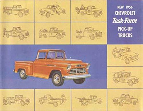 - 1956 Chevrolet Task Force Truck Sales Brochure Literature Options Colors Specs