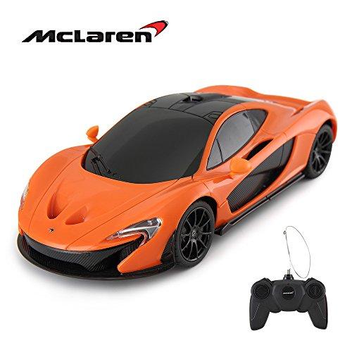 Rastar RC Car | 1:24 Scale McLaren P1 Remote Control Toy Car, R/C Model Vehicle for Kids – Orange