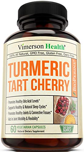 Turmeric Curcumin and Tart Cherry Extract Supplement. Celery Seed, and Bioperine. Polyphenols with Antioxidant Properties. Uric Acid Cleanse for Joint Comfort, Healthy Sleep Cycles and Muscle Recovery