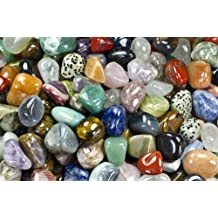 Hypnotic Gems Materials: 2 lbs Medium Brazilian and African Tumbled Stone Mix - Polished Natural Stones with a Beautiful Variety of Rock Types in Every Bag! Wicca, Reiki, & Energy Crystal Healing