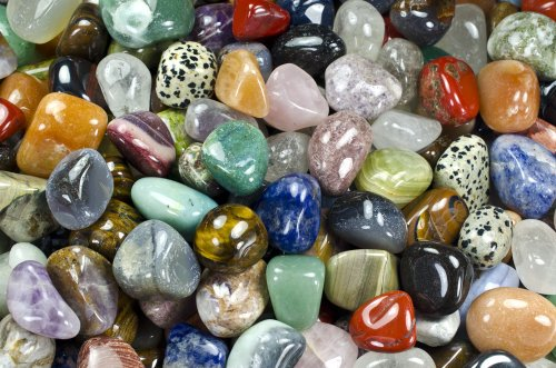 Hypnotic Gems Materials: 2 lbs Medium Brazilian and African Tumbled Stone Mix - Polished Natural Stones with a Beautiful Variety of Rock Types in Every Bag! Wicca, Reiki, Energy Crystal Healing