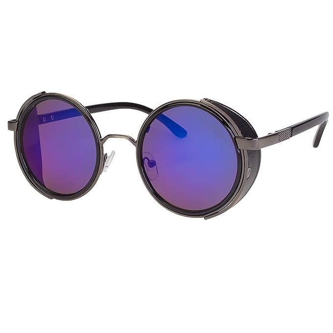 Amazon.com: Gafas de sol redondas con espejo retro vintage ...