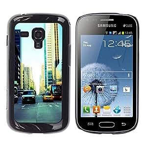 // PHONE CASE GIFT // Duro Estuche protector PC Cáscara Plástico Carcasa Funda Hard Protective Case for Samsung Galaxy S Duos S7562 / NYC Traffic /