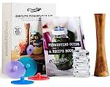 Masontops Complete Mason Jar Fermentation Kit - Easy Wide Mouth Jars Vegetable Fermenting Set - DIY Equipment Essentials