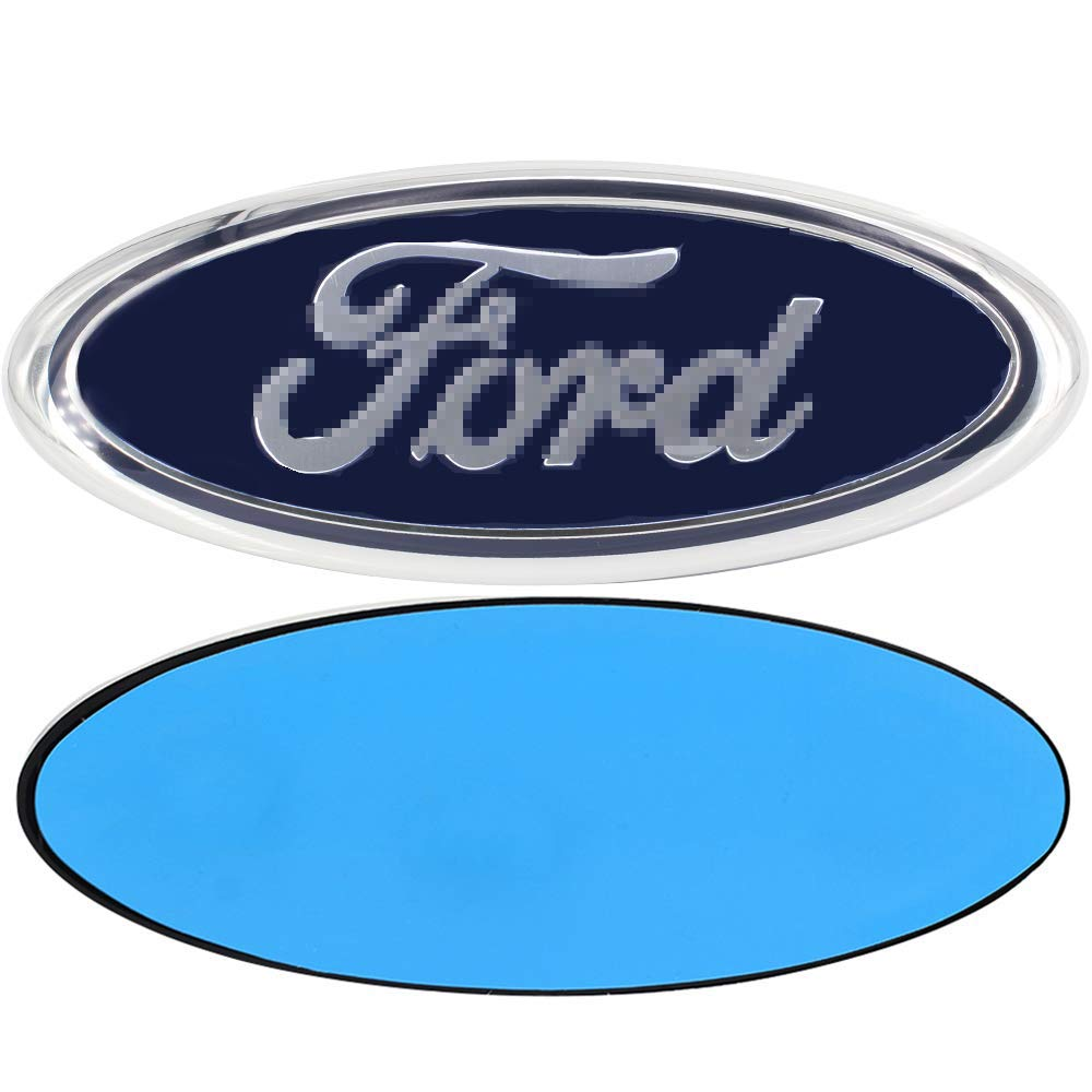 3D Oval Adhesive Badge for Ford Escape Excursion Expedition Ranger Freestyle Freestyle Five Hundred F-150 F-250 F350 F450 F550 Shenwinfy 7 Inch Front Grille Tailgate Emblem for Ford Dark Blue