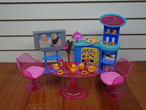 Barbie Size Dollhouse Furniture - Cafe House Play Set