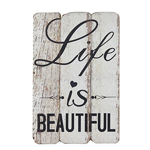 NIKKY HOME Wooden Wall Decorative Sign 7.87 x 0.63 x 11.87 inches