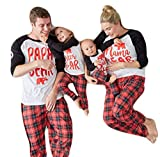 USGreatgorgeous Papa Mama Sisters Baby Bear Family Matching Christmas Pajamas Sets for the Family (L, Father Only)