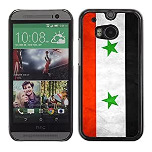 Shell-Star ( National Flag Series-Syria ) Snap On Hard Protective Case For All New HTC One (M8)