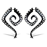 Fake Gauge Earrings Hand Carved Horn Lyla Spirals Fake Plugs
