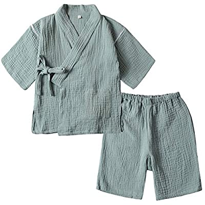 Digirlsor Baby Unisex Pajama Short Set Boys Girls 2 Piece 100% Cotton Sleepwear Bathrobe, 2-6Y