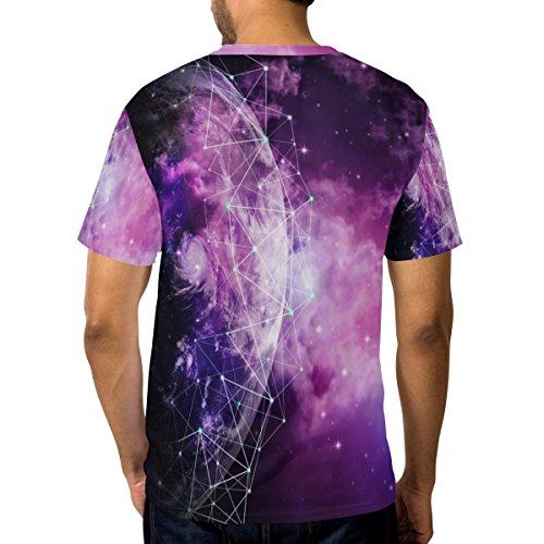 a Maglietta Alania Galaxy multicolor manica corta e Casual Uomo girocollo Nebula Planet YgqZYr