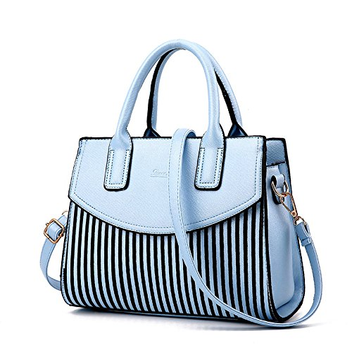 Casual CrossBody Bag Women Bolso Clutch Vintage Classic Shoulder Bag Skyblue