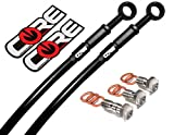 Core Moto - Honda GROM / MSX 125 2014-2015 Performance Brake lines Front and Rear Combo -Black