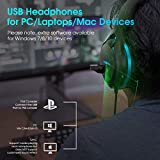 Jeecoo V22 Gaming Headset for PC- Deep Bass 3D