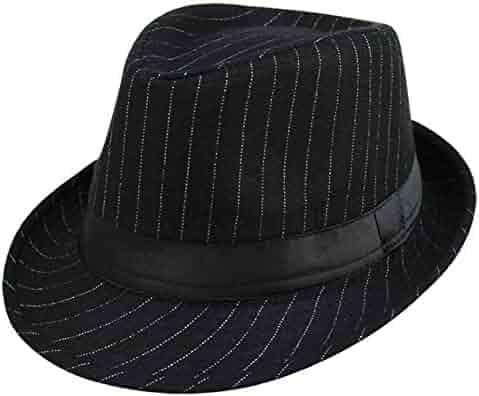 c265d10765899 Summerwhisper Women s Men s Striped Wool Fedora Trilby Hat Cap Unisex