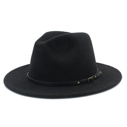 Sunny Baby Sombreros de ala ancha Fedora de lana para mujer Sombreros de  sombrerera de Jazz para e8075f0928a