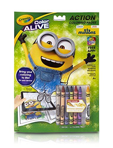 Crayola Color Alive Animated Minions