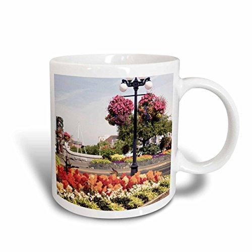 3dRose Hanging Flower Baskets, Victoria, B.C.-Cn02 Sws0024 Stuart Westmorland Ceramic Mug, 15 oz, White (Christmas Gift Baskets Victoria Bc)